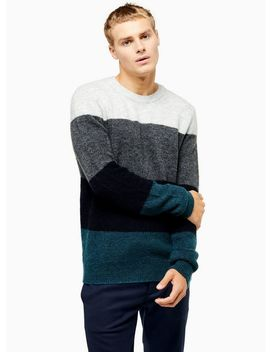 Blue Block Stripe Harlow Sweater by Topman