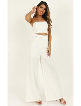 The Real Me Two Piece Set In White by Showpo Fashion