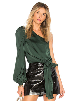 Kendall Blouse In Emerald by Lovers + Friends