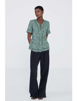 Tailored Tweed Blazer by Zara