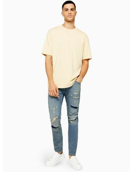 Extreme Ripped And Repair Stretch Skinny Jeans by Topman