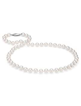 Classic Akoya Cultured Pearl Strand Necklace In 18k White Gold (6.5 7.0mm) by Blue Nile