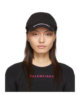 黑色徽标棒球帽 by Balenciaga