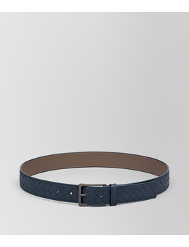 Nero Intrecciato Belt by Bottega Veneta