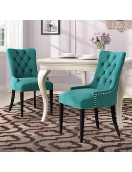 Burnett Upholstered Dining Chair by Rosdorf Park