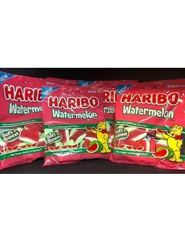 Lot Of 5 3.1oz Haribo Watermelon Gummi Soft And Sweet Free Same Day Shipping by Ebay Seller