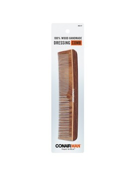 Conair Man Hand Made 100% Wooden Dressing Comb by Conair