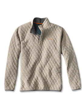 Trout Bum® Quilted Snap Sweatshirt by Orvis