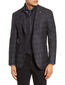Tucker Trim Fit Plaid Wool Hybrid Sport Coat by Ted Baker London