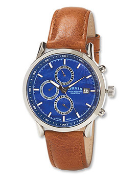 Blue Dial Three Eye Chronograph by Orvis