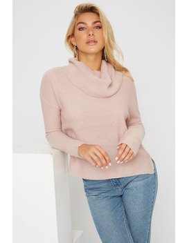 Knit Cowl Neck Sweater by Urban Planet