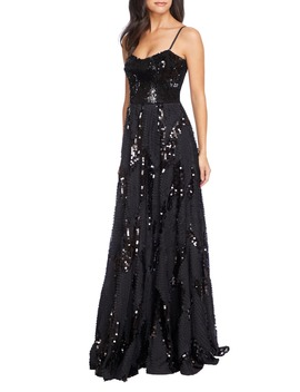 Marianna Paillette Evening Gown by Dress The Population