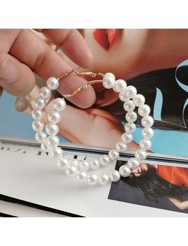 Round Acrylic Pearl Earrings Earrings Geometric Simple Temperament Female Retro European And American Earrings Earrings by Wish