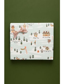 Rifle Paper Co. North Pole Wrapping Paper Sheets, Set Of 3 by Rifle Paper Co.