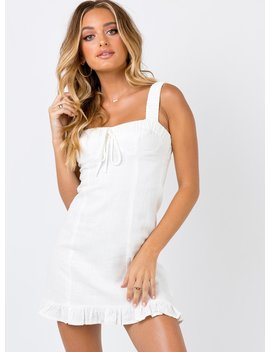 San Lucas Mini Dress Ivory by Princess Polly