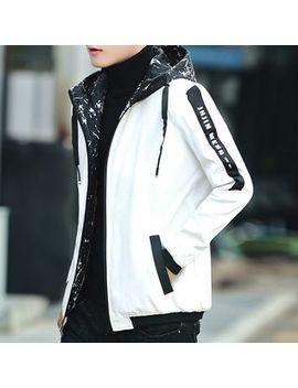 Fusuma   Lettering Hooded Zip Jacket by Fusuma