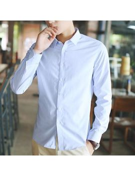 Fancose   Long Sleeve Plain Shirt by Fancose