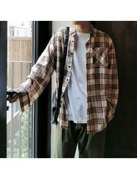 Mrcyc   Plaid Long Sleeve Shirt by Mrcyc