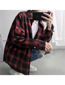 Acrius   Long Sleeve Plaid Shirt by Acrius