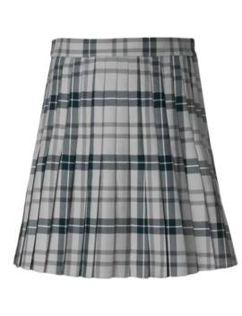 Pleated Tartan Uniform Twill Skirt by Thom Browne