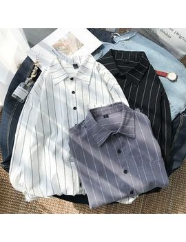 Duckle Beam   Long Sleeve Striped Shirt by Duckle Beam