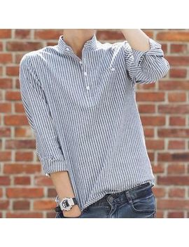 Wewewow   Long Sleeve Striped Shirt by Wewewow
