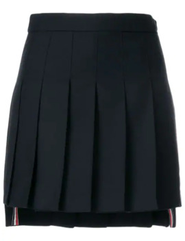 Striped Pleated Mini Skirt by Thom Browne