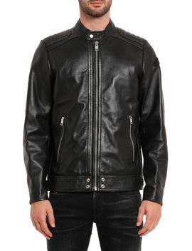 L Shiro Wh Leather Jacket by Diesel