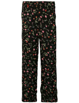 Floral Print Straight Trousers by Ganni