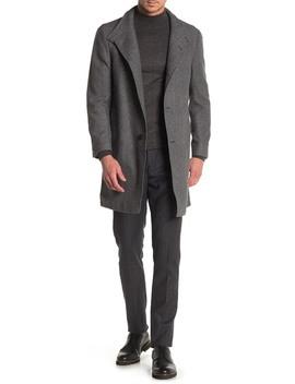 Easton Basketweave Trim Fit Coat by Nordstrom Rack