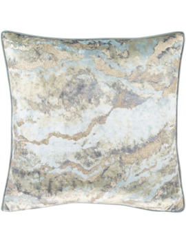 Ada Marble Velvet 20 Inch Throw Pillow Cover   Champagne by Generic