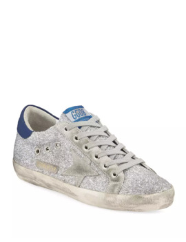 Superstar Glitter Fabric Sneakers by Golden Goose