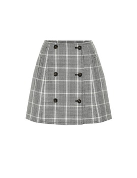 Checked Wool Miniskirt by Stella Mc Cartney