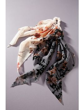 Laura Burnout Velvet Hair Scarf Set by Anthropologie