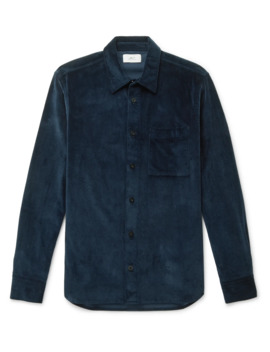 Cotton Blend Corduroy Shirt by Mr P.