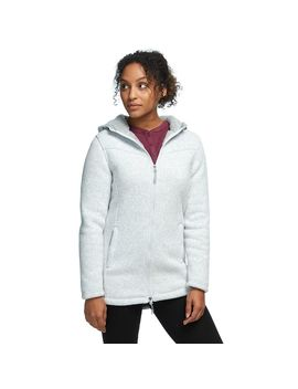 Sherpa Lined Hooded Sweater Fleece Jacket   Women's by Stoic