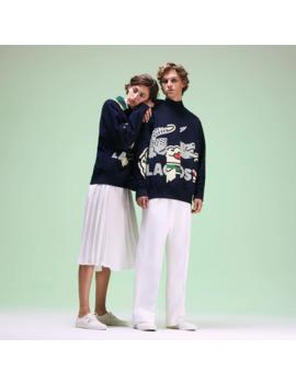 Unisex Fashion Show Crocodile Printed Sweatshirt by Lacoste