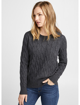 Twisted Cable Sweater by Contemporaine