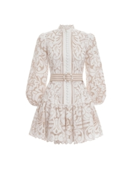 Edie Button Down Short Dress by Zimmermann