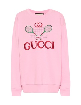 Embroidered Cotton Sweater by Gucci