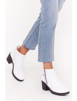 One Night Stand Zip Ankle Boots by Nasty Gal