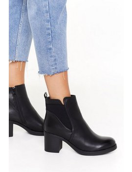 Can You Heel It Faux Leather Boots by Nasty Gal