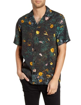 Canty Transition Short Sleeve Button Up Camp Shirt by Saturdays Nyc