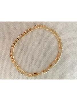 Gold Filled Figaro Armband, Goud Gelaagdheid Armband, Gold Chain Bracelet, Figaro Armband 18kt, Sierlijke Chain Bracelet, Cadeau Voor Haar by Etsy