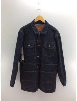 Coat Indigo Plain Tucker Denim Long by Undercover  ×