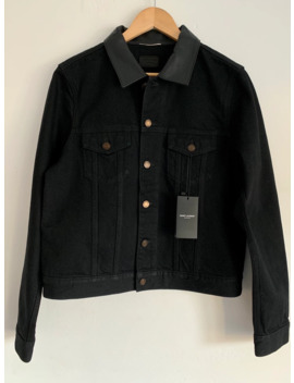 Denim Jacket With Leather Collar Bnwt by Saint Laurent Paris  ×