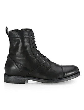 Collection Leather Combat Boots by Saks Fifth Avenue