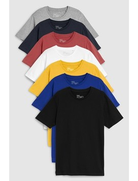 Multi Mixed Colour T Shirts Seven Pack by Next