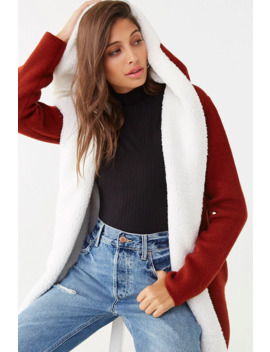 Faux Fur Lined Cardigan by Forever 21