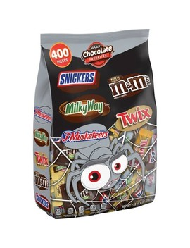 Mars Chocolate Favorites Twix Milky Way Snickers M&M's And 3 Musketeers Halloween Variety Bag   126.3oz / 400ct by Mars